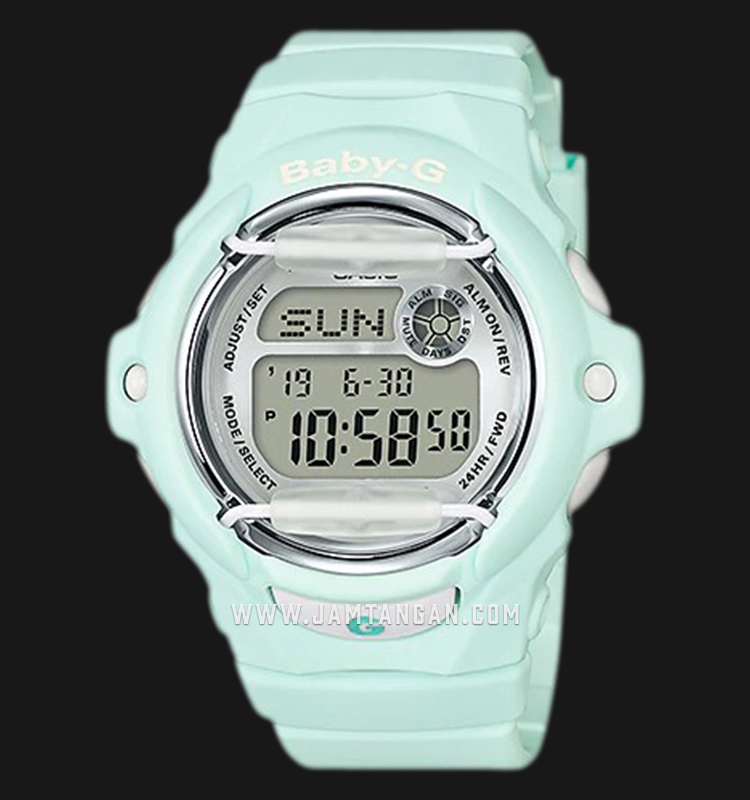 Casio Baby-G BG-169R-3DR Special Color Model Ladies Digital Dial Green Resin Strap Machtwatch
