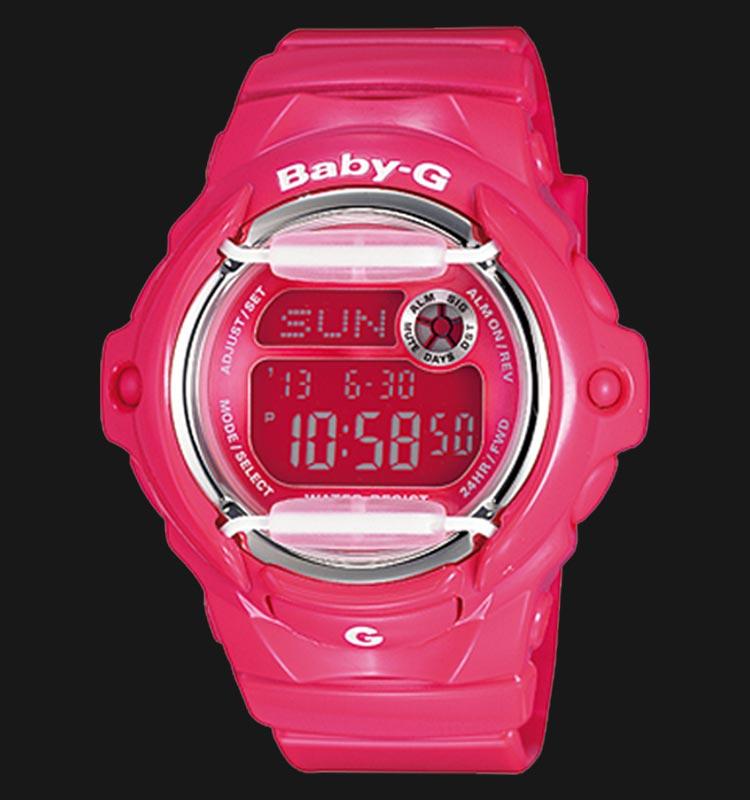 Casio Baby-G BG-169R-4BDR Ladies Digital Dial Pink Resin Strap Machtwatch