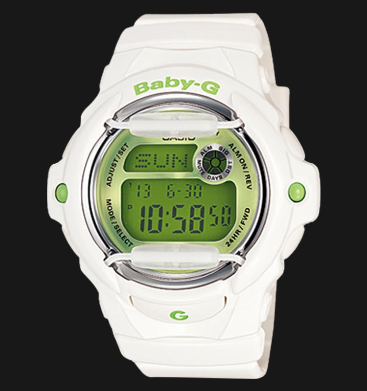 Casio Baby-G BG-169R-7CDR Ladies Digital Dial White Resin Strap Machtwatch