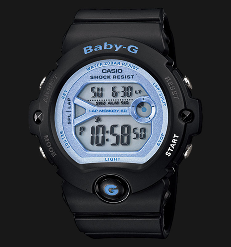 Casio Baby-G BG-6903-1DR Digital Dial Black Resin Strep Machtwatch