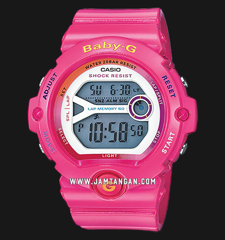Casio Baby-G BG-6903-4BER Ladies Digital Dial Pink Resin Strap Machtwatch