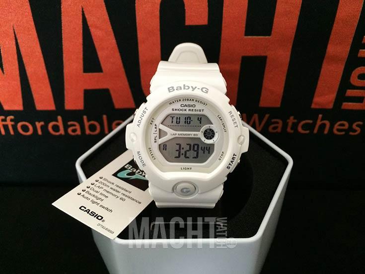 Casio Baby-G BG-6903-7BDR Ladies Digital Dial White Resin Strap Machtwatch