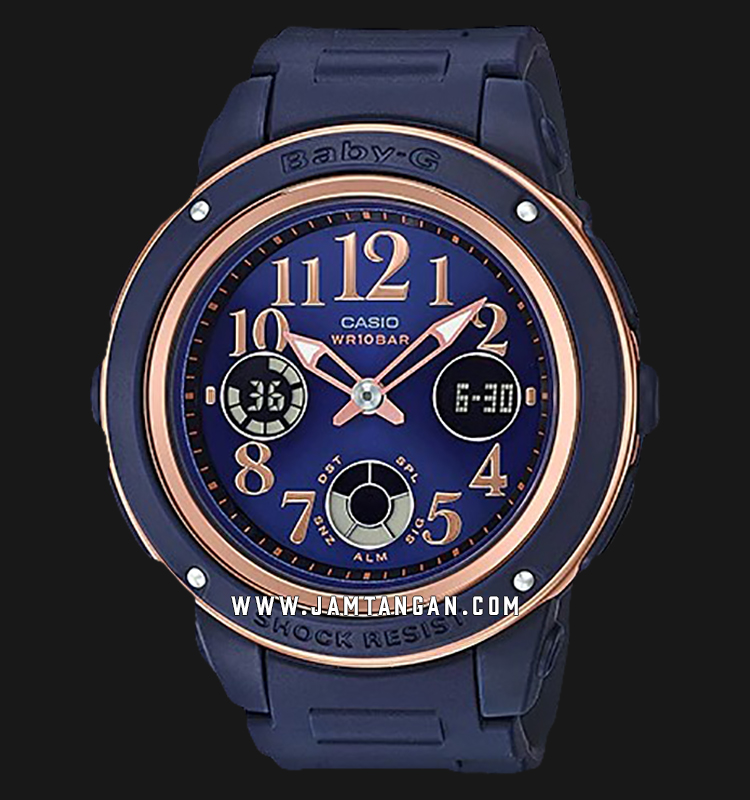 Casio Baby-G BGA-150PG-2B2DR Blue Dial Blue Resin Band Machtwatch