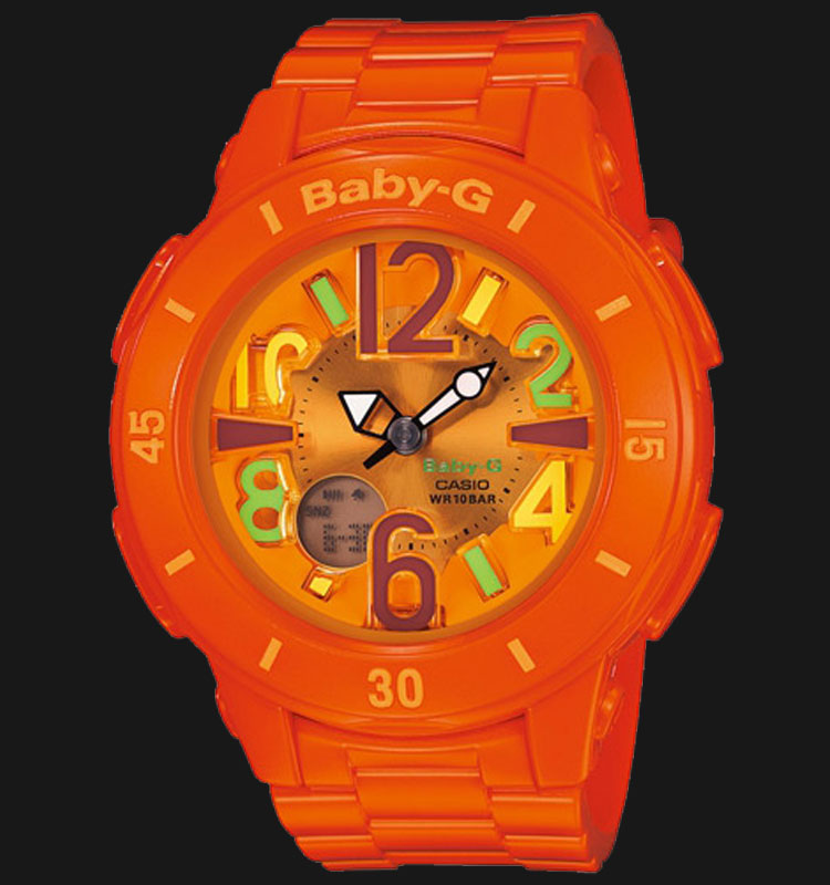 Casio Baby-G BGA-171-4B2DR Digital Analog Display Dial Orange Resin Strap Machtwatch