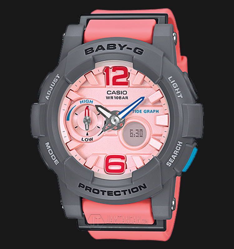 Casio Baby-G BGA-180-4B2DR Water Resistant 100M Resin Band Machtwatch
