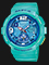 Casio Baby-G BGA-190-3BDR Ladies Digital Analog Dial Green Resin Strap Thumbnail