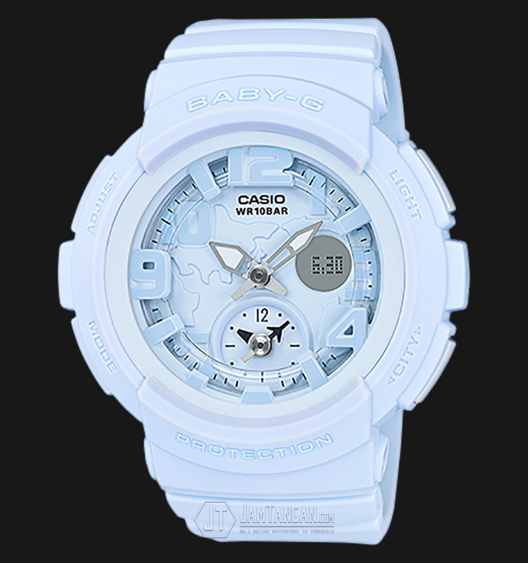 Casio Baby-G BGA-190BC-2BDR Water Resistant 100M Resin Band Machtwatch