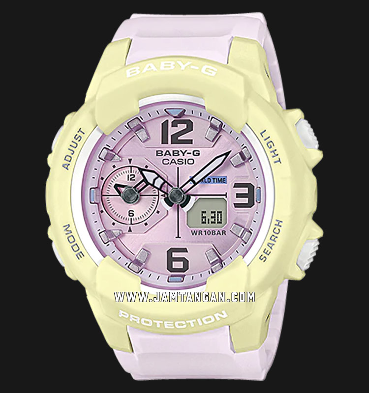 Casio Baby-G BGA-230PC-9BDR Digital Analog Dial Pink Resin Strap Machtwatch