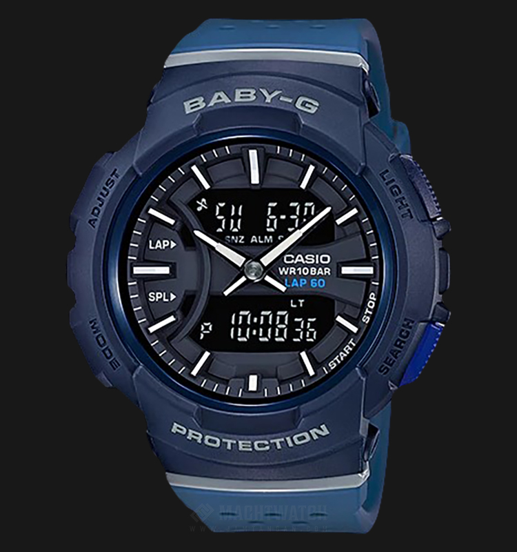 Casio Baby-G Athleisure Series BGA-240-2A1DR Ladies Digital Analog Watch Blue Resin Band Machtwatch
