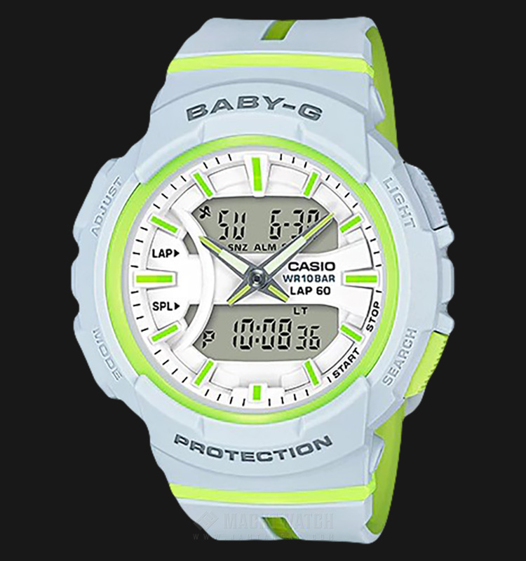 Casio Baby-G BGA-240L-7ADR Water Resistant 100M White Dial Light Blue Resin Band Machtwatch