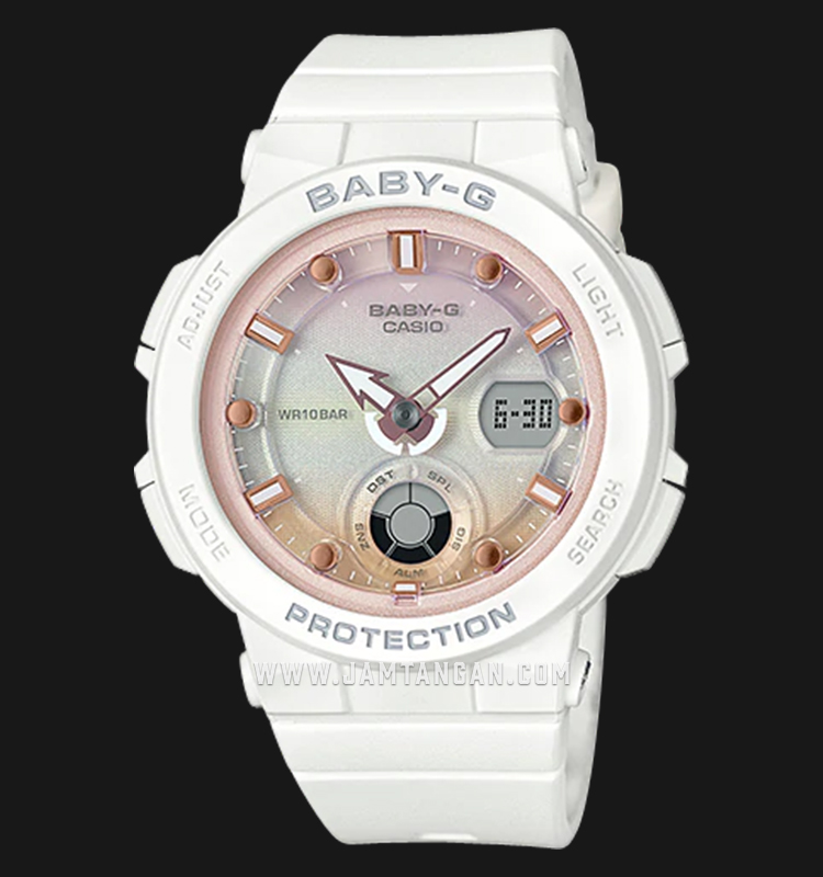Casio Baby-G BGA-250-7A2DR Water Resistant 100M Digital Analog Dial Light Pink Resin Band Machtwatch