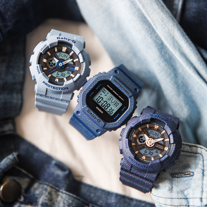 Casio Baby-G BGD-560DE-2DR Water Resistant 200M Black Digital Dial Blue Resin Band Machtwatch