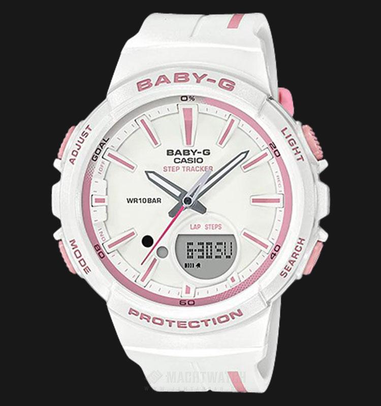 Casio Baby-G BGS-100RT-7ADR Punto It Design White Resin Band Machtwatch