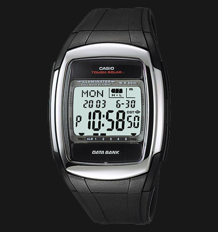 Casio DB-E30-1AVDF - Data Bank - Resin Band Machtwatch