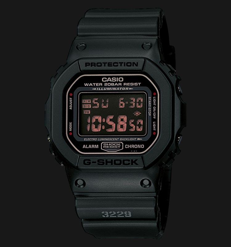 Casio G-Shock DW-5600MS-1DR Men Digital Dial Black Resin Strap Machtwatch