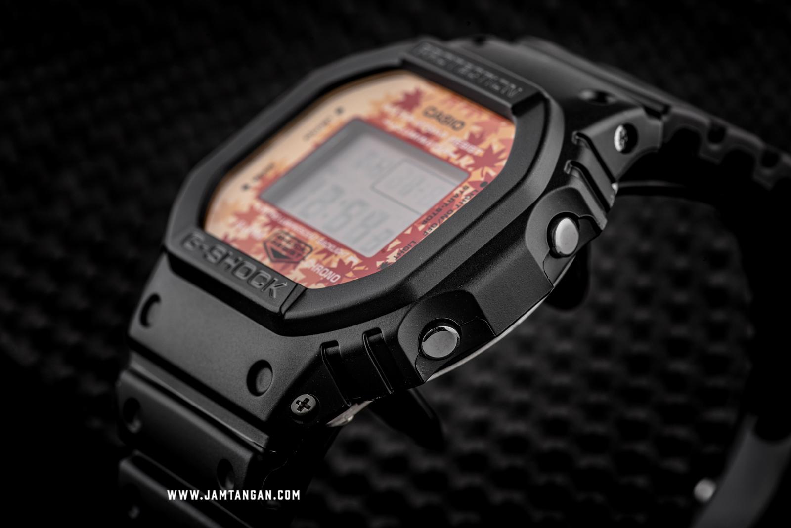 Casio G-shock DW-5600TAL-1JR Kyo Momiji Colour Autumn Series Digital Dial Black Resin Strap Machtwatch