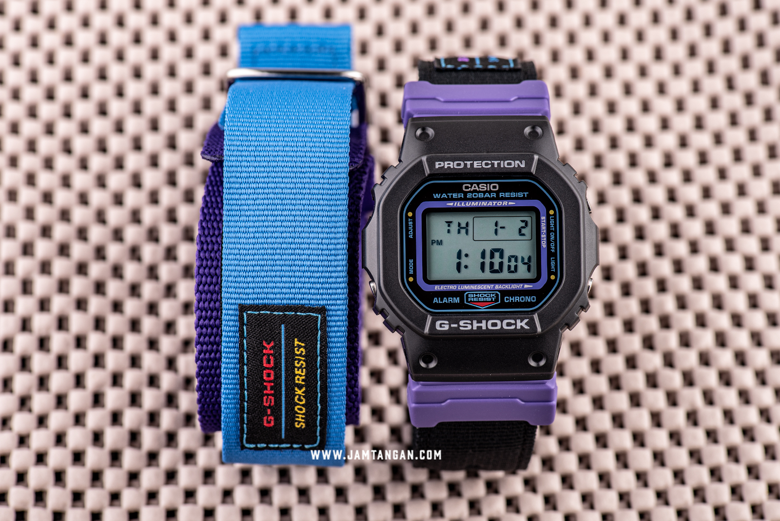 Casio G-shock DW-5600THS-1JR Special Colour Models Digital Dial Black Nylon Strap Machtwatch
