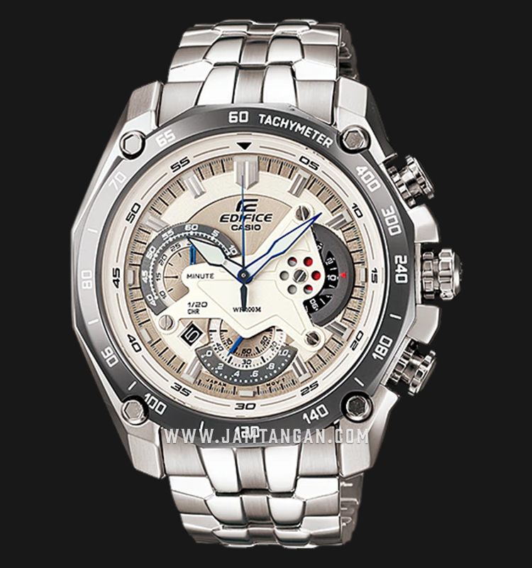 Casio Edifice EF-550D-7AVUDF Chronograph Silver Dial Stainless Steel Strap Machtwatch