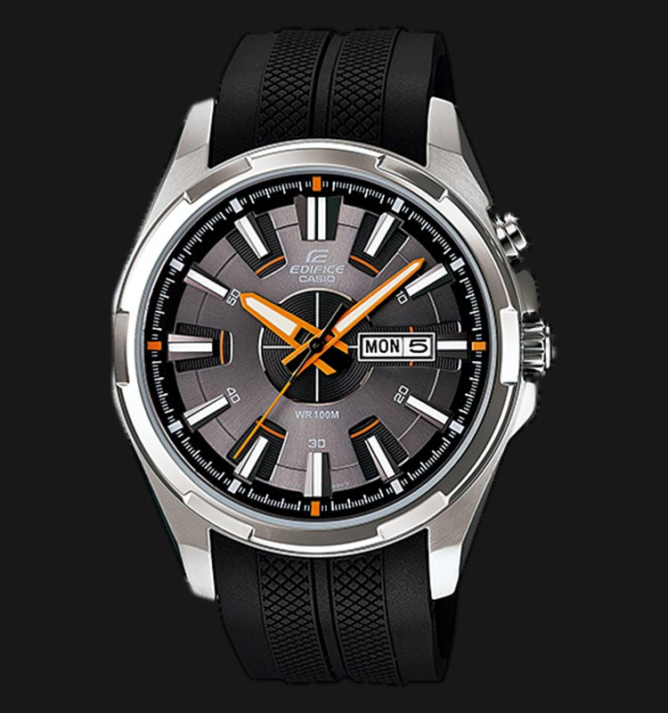 Casio Edifice EFR-102-1A5VDF Men Grey Dial Black Resin Strap Machtwatch
