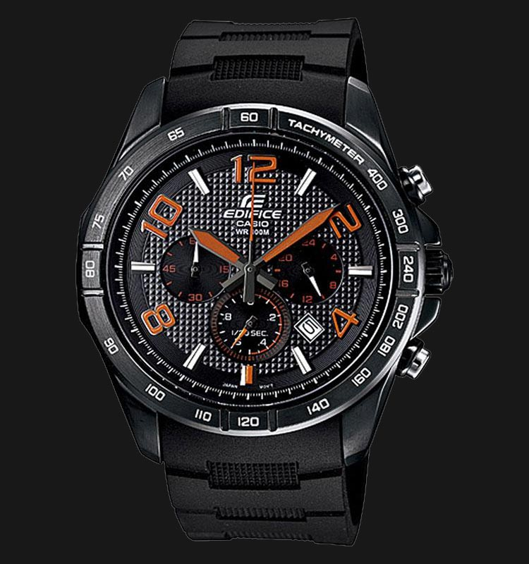 Casio Edifice EFR-516PB-1A4VDF Chronograph Men Black Pattern Dial Black Resin Strap Machtwatch