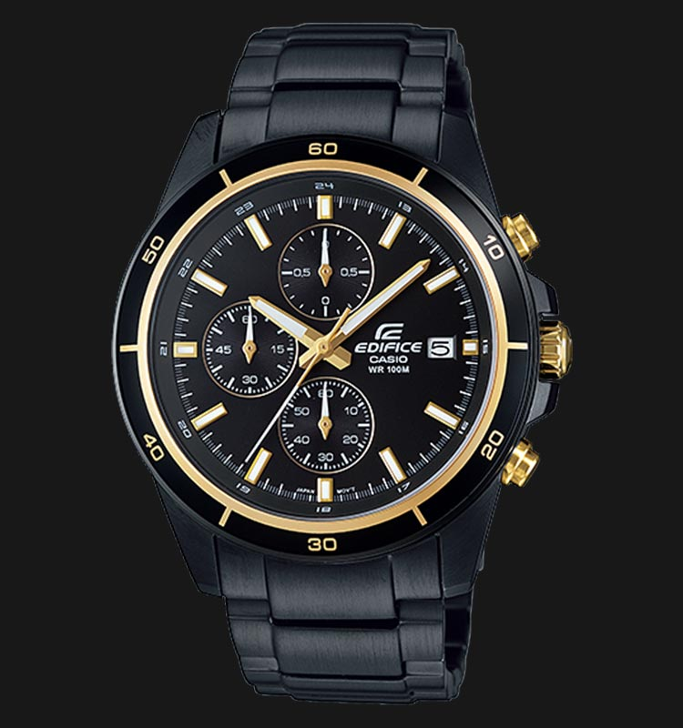 Casio Edifice EFR-526BK-1A9VUDF Chronograph Black Dial Black Stainless Steel Strap Machtwatch