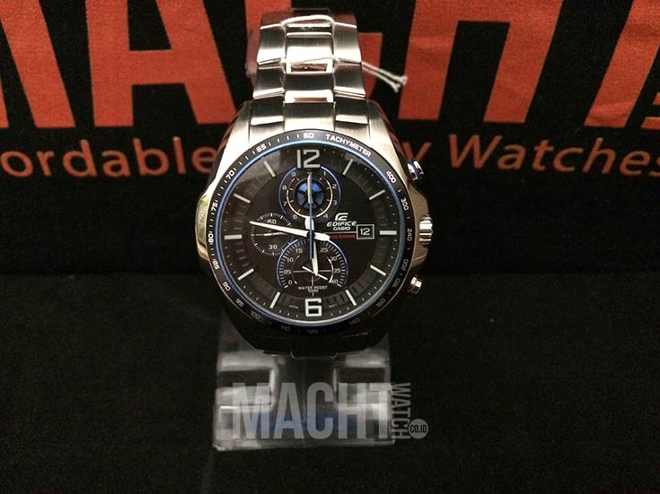 Casio Edifice EFR-528D-1AVDF Chronograph Men Black Dial Stainless Steel Strap Machtwatch