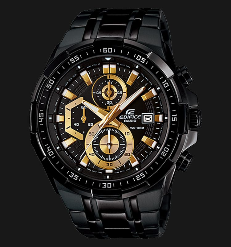 Casio Edifice EFR-539BK-1AVUDF Men Black Dial Black Stainless Steel Strap Machtwatch
