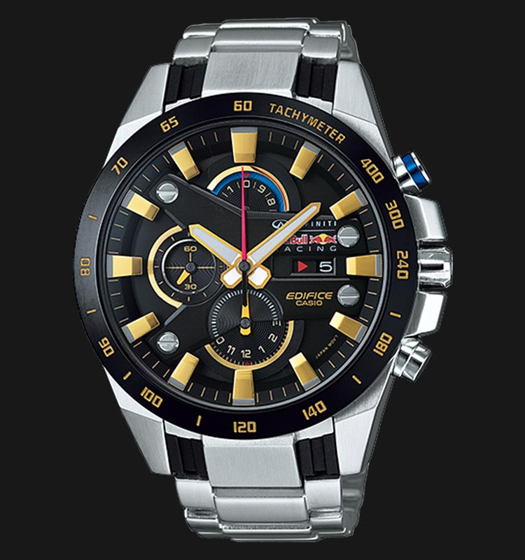 Casio Edifice RedBull Racing EFR-540RB-1ADR Chronograph Men Black Dial Stainless Steel Strap Machtwatch