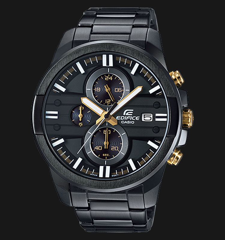 Casio Edifice EFR-543BK-1A9VUDF Black Ion Plated Stainless Steel Machtwatch