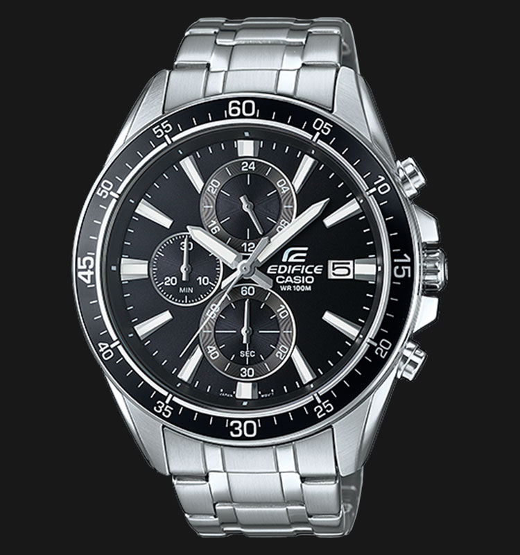 Casio Edifice EFR-546D-1AVUDF Chronograph Men Black Dial Stainless Steel Strap Machtwatch