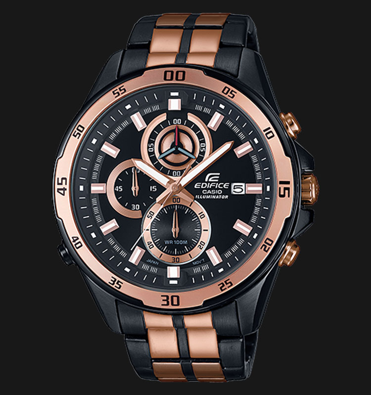 Casio Edifice EFR-547BKG-1AVUDF Chronograph LED light Afterglow Machtwatch
