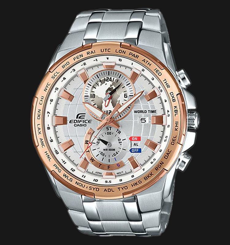 Casio Edifice CHRONOGRAPH EFR-550D-7AVUDF Silver Dial Stainless Steel Strap Machtwatch