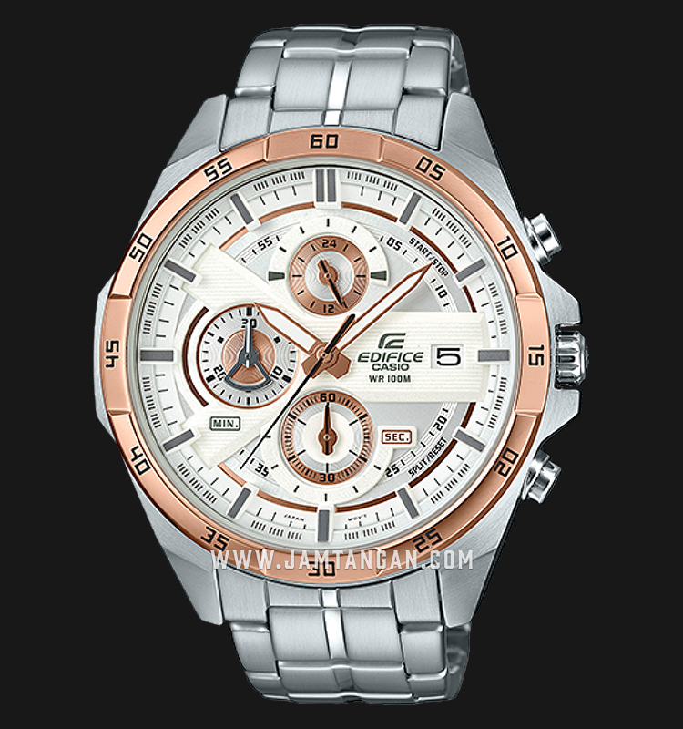 Casio Edifice EFR-556DB-7AVUDF Chronograph Silver Dial Stainless Steel Strap Machtwatch