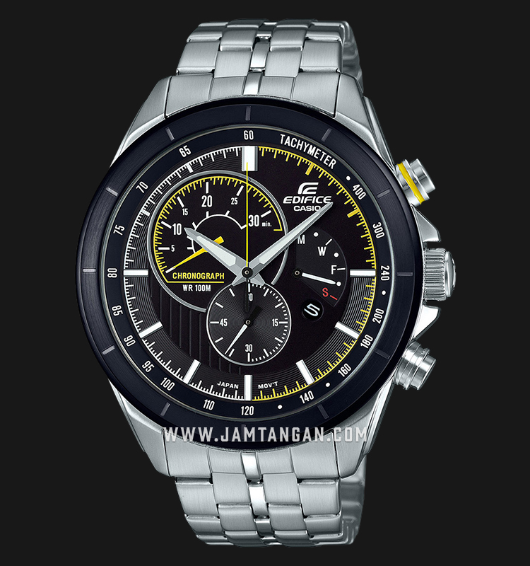 Casio Edifice EFR-561DB-1AVUDF Chronograph Black Dial Stainless Steel Strap Machtwatch