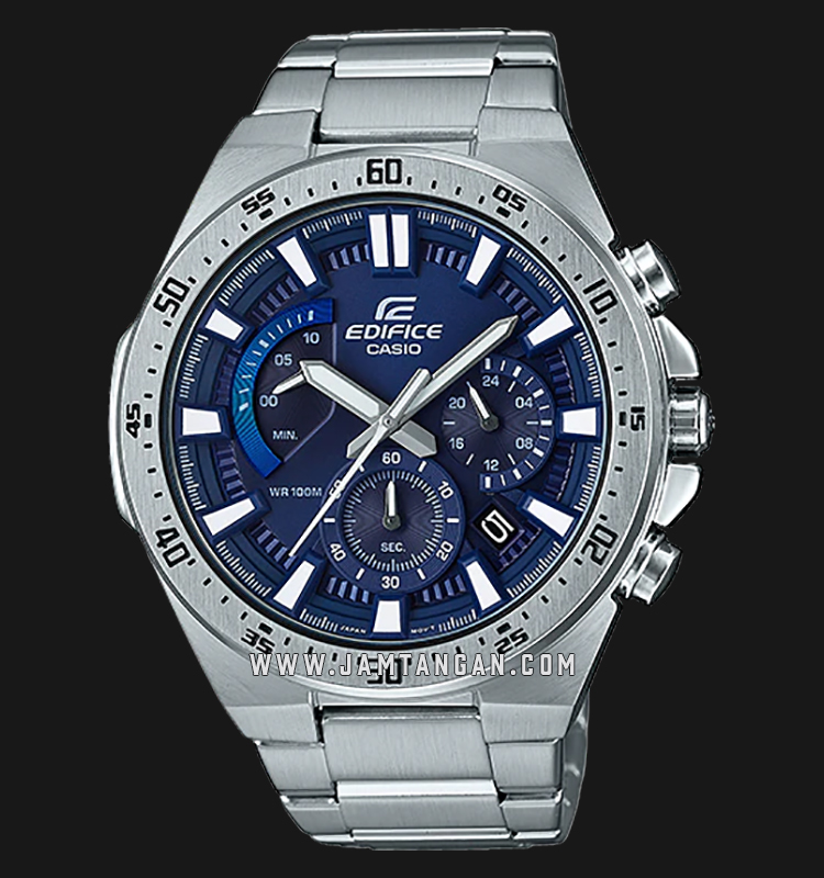 Casio Edifice EFR-563D-2AVUDF Chronograph Men Blue Dial Stainless Steel Strap Machtwatch