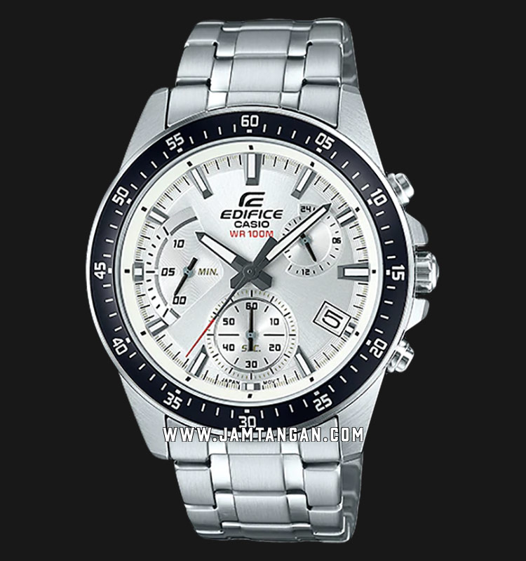 Casio Edifice EFV-540D-7AVUDF Chronograph Men Silver Dial Stainless Steel Strap Machtwatch