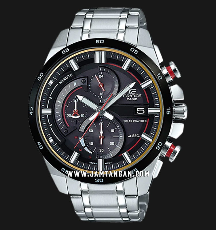 Casio Edifice EQS-600DB-1A4UDF Chronograph Black Dial Stainless Steel Strap Machtwatch