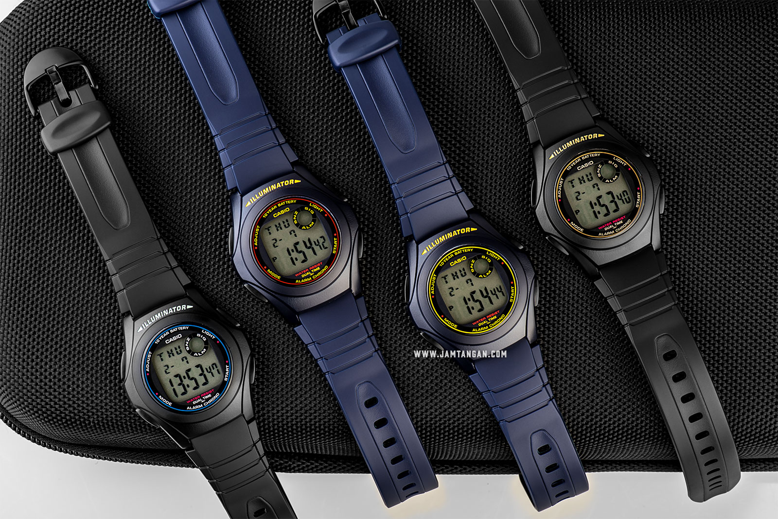 Casio F-200W-9ADF - 10-Years Battery Life- Resin Band Machtwatch