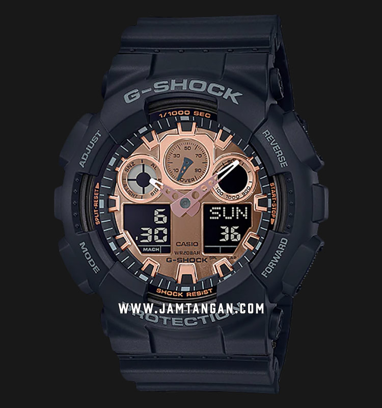 Casio G-Shock GA-100MMC-1ADR Digital Analog Dial Black Resin Strap Machtwatch