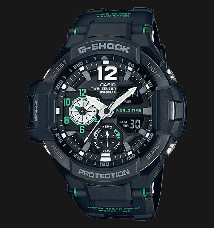 Casio G-Shock Gravitymaster GA-1100-1A3DR Water Resistance 200M Resin Band Machtwatch