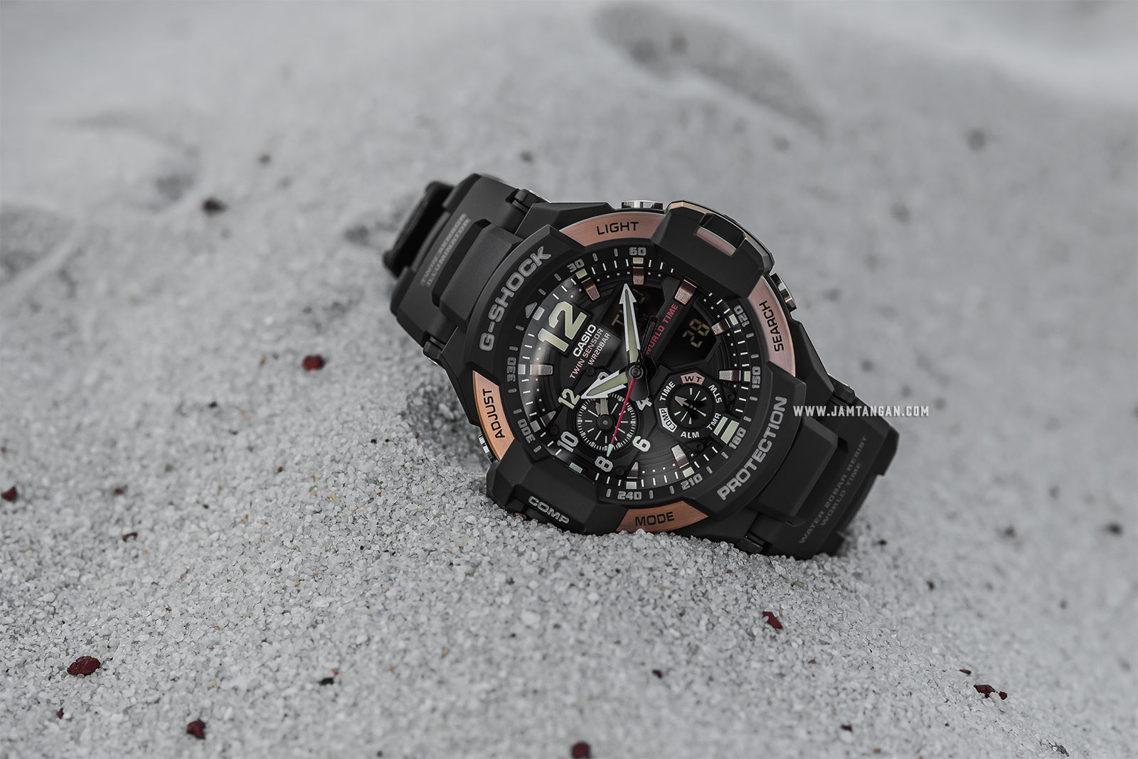 Casio G-Shock Gravitymaster GA-1100RG-1ADR Water Resistant 200M Resin Band Machtwatch