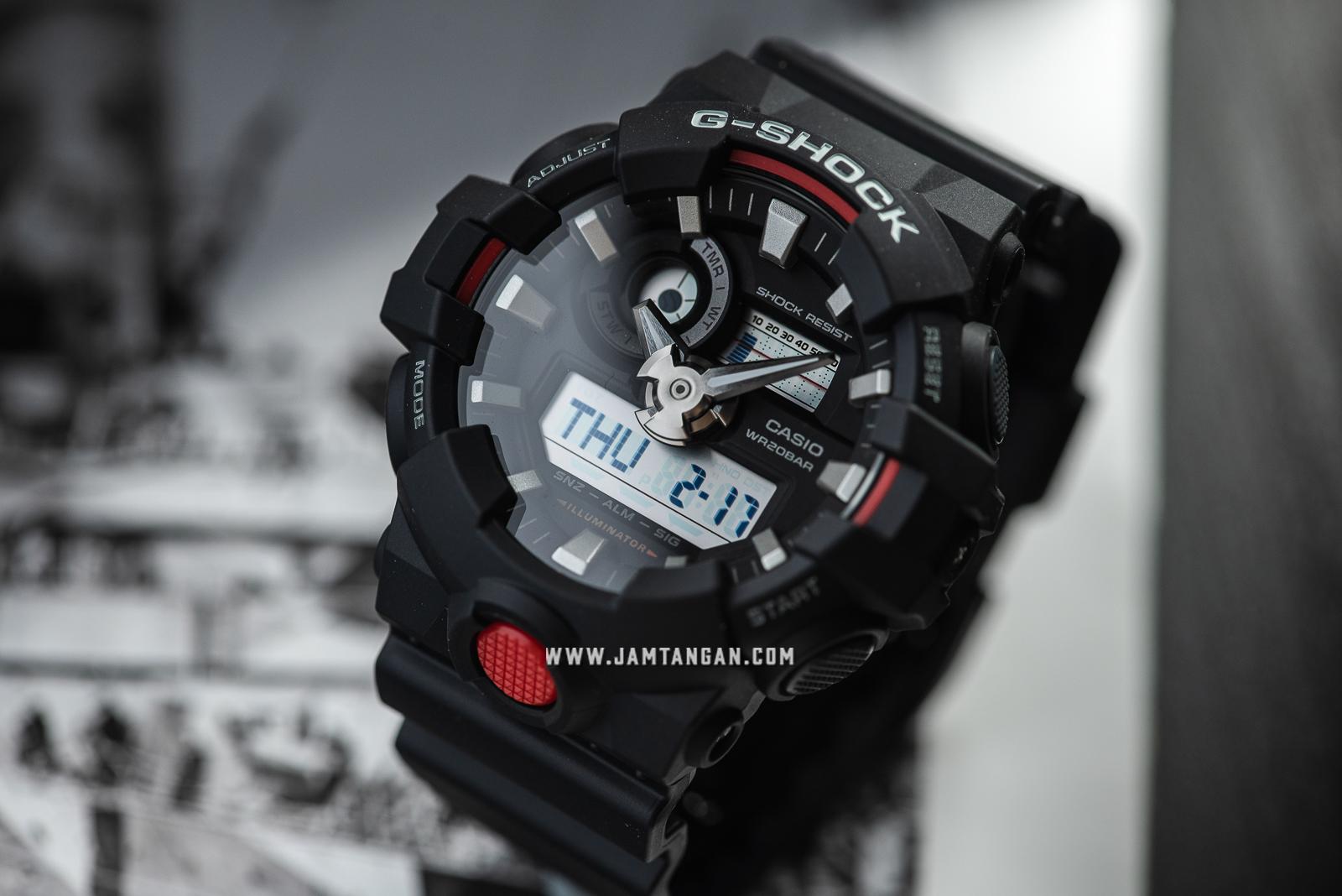 Casio G-Shock GA-700-1ADR Water Resistant 200M Resin Band Machtwatch
