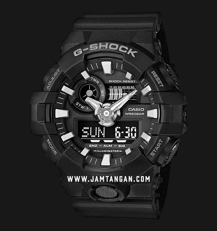 Casio G-Shock GA-700-1BDR Water Resistant 200M Resin Band Machtwatch