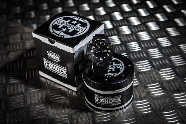 Casio G-Shock Eric Haze Collaboration Model GA-700EH-1AJR Men Digital Analog Dial Black Resin Strap Machtwatch