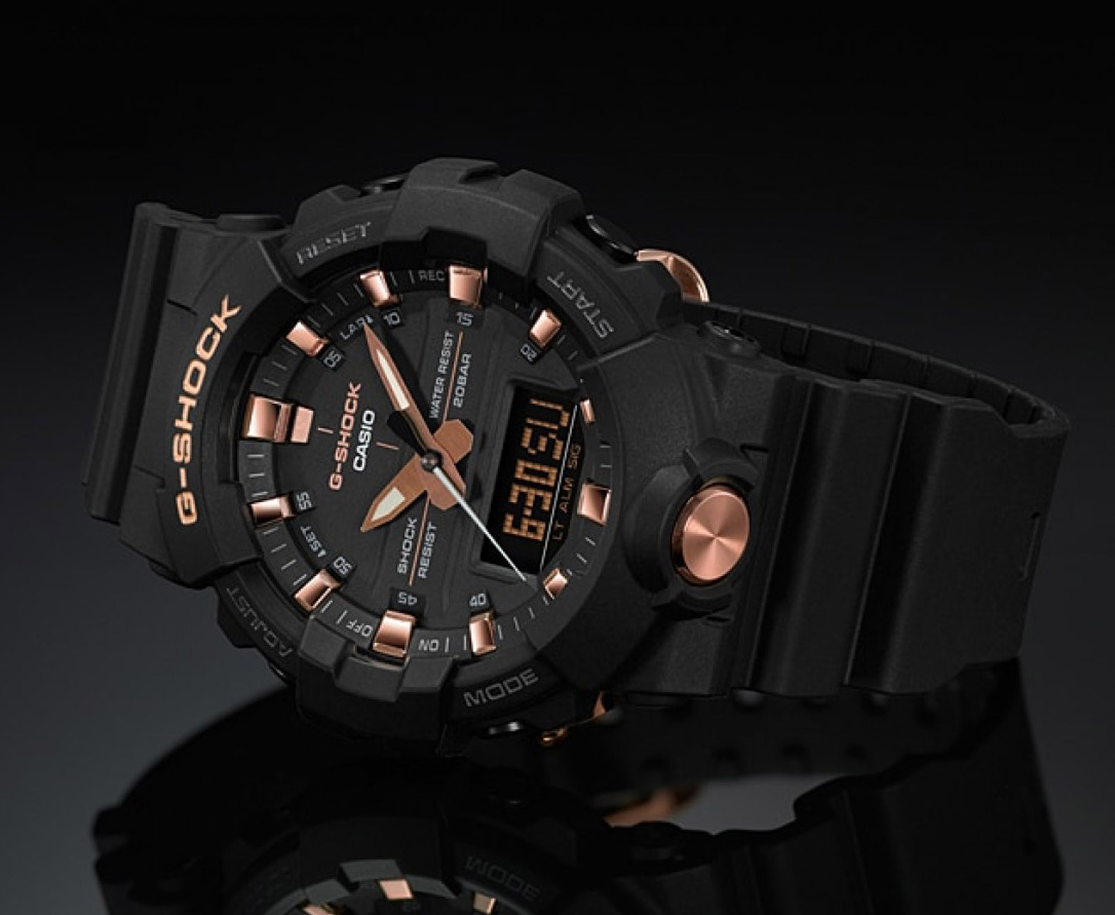 Casio G-Shock GA-810B-1A4DR Special Color Models Digital Analog Dial Matte Black Resin Strap Machtwatch