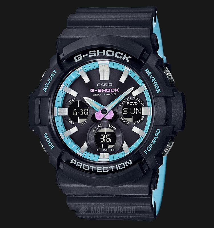 Casio G-Shock Multiband 6 GAW-100PC-1AJF Men Digital Analog Dial Black Resin Strap Machtwatch
