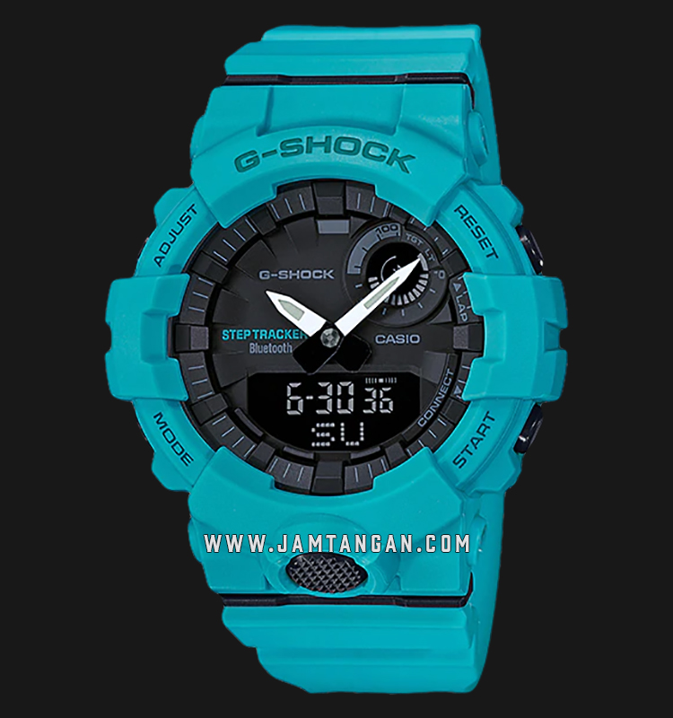 Casio G-shock G-Squad GBA-800-2A2DR Smart Bluetooth Digital Analog Dial Blue Resin Strap Machtwatch