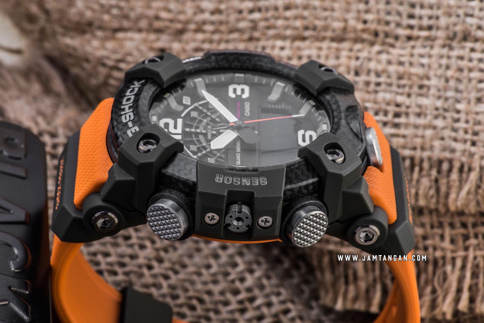 Casio G-Shock GG-B100-1A9JF Mudmaster Digital Analog Dial Orange Resin Strap Machtwatch