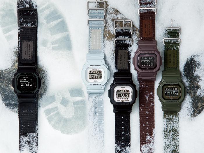 Casio G-Shock GLS-5600CL-5DR Men Digital Display Dial Brown Cloth Strap Machtwatch