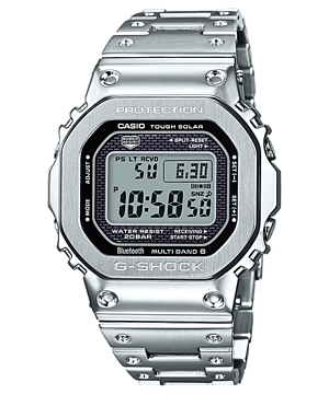 Casio G-Shock GMW-B5000D-1DR Men Digital Dial Silver Stainless Steel Strap
